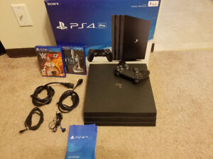Ps4 Pro 1TB 4k Blue Ray. Mint Condition.