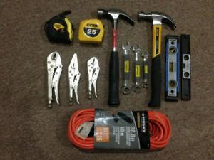 ASSORTED TOOLS AND 32.8 FEET EXTENSION CORD – BRAND NEW