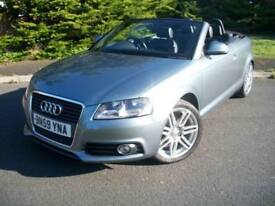 AUDI A3 1.6 CONVERTIBLE 2DR S LINE EDITION, JUST TWO OWNERS, ONLY 35,000 MILES