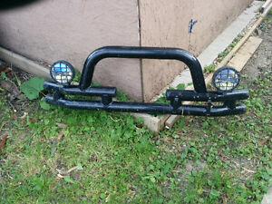 Jeep tube bumper with lights