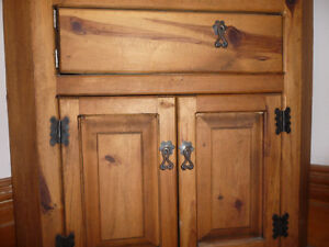Mexican made wooden Corner cupboard Peterborough Peterborough Area image 2