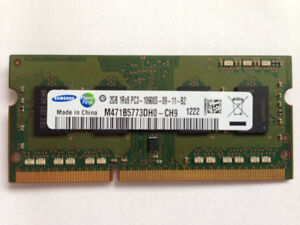 Used Laptop DDR3 2 GB DIMM