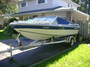 1989 bowrider white and blue