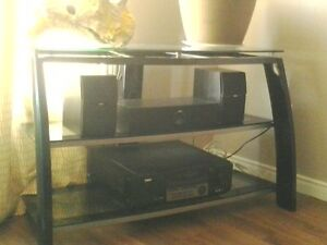 New Steel/glass 3 level Tv Stand