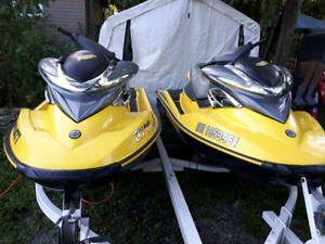 Matching his and hers RXP seadoos