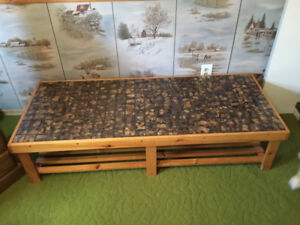 ONE OF A KIND SOLID PINE HAND CRAFTED CERAMIC TILES