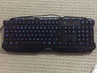 Mechanical illuminus gaming keyboard