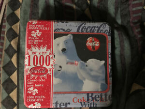 Coca Cola puzzle - Polar Bears (w/collectible tin)