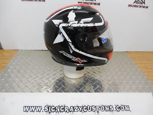 Awesome Deal Riot X Motorcycle Helmet with drop down visor