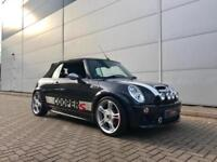 2008 08 reg Mini 1.6 Cooper S Convertible + Black + JCW JOHN COOPER WORKS CoopeS