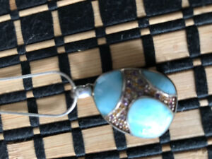 Blue larimar necklace