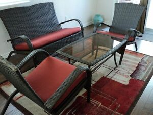Patio Set, Wicker Style, 4 Piece - Never sat on or been outside!