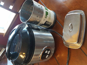 Rice cooker, butter dish and kitchen utensil holder