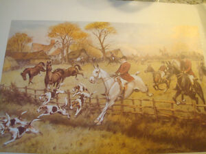 """Fox Hunt Full Cry Through The Homestead,16""""X20"""" George Wright Peterborough Peterborough Area image 6"""