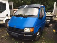 Ford transit twin wheel chassis cab 1991 2.5 di spares repairs unfinished project