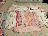 24 baby girls sleep suits 3-6 up wards