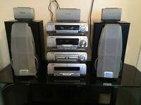 Technics sc-dv290 DVD CD cassette radio entertainment system player surround sound high quality
