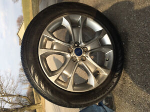 4 Tires with Alloy wheels