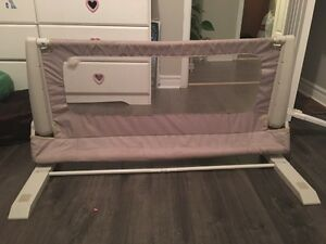 Beige safety bed rail