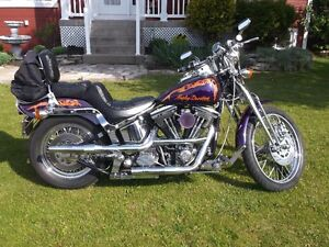 softail springer 1990  full chrome personnaliser