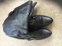 Black Small Heeled Boots Size 7
