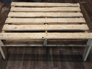 Rustic modern coffee table $60