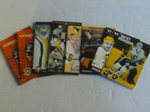 SUPER LOT DE SCHEDULES DE HOCKEY AVEC MARIO LEMIEUX DE PITTSBURH