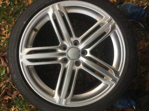 Audi rim and tires. 265/35/R19 bridgestone 4 snow tires with rim