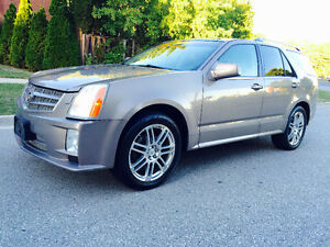 2008 CADILLAC SRX SPORT AWD, BEIGE ON TAN LEATHER,PANORAMIC, MIN