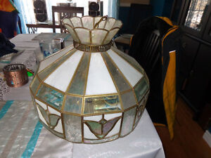 Stained Glass Hanging Light Chandelier with 5 lights