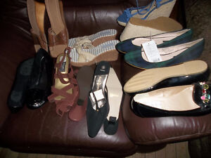 8  PAIRS OF UNWORN  SHOES SIZE 10