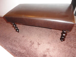 Gently Used High Quality Brown Leather Look Bench