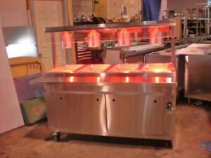 TABLE DE BUFFET FROID OU CHAUD * DIRECTE DU FABRICANT * / BUFFET TABLE HOT OR COLD * DIRECT FROM MANUFACTURER *