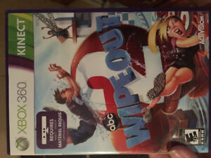 """XBOX 360 Kinect """"Wipe Out"""" game, never been used!"""