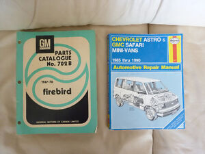 Firebird Parts Manual- vintage 67-70