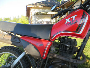1982 Yamaha  XT200 With Only 1500 kms!!! Like New!