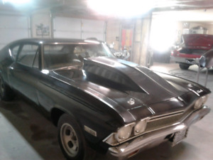 1968 chevelle 4 gear post car