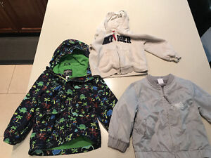 Boys coats, sweater and shoes