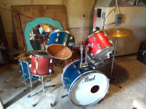 Vintage Pearl Drum Set $300 Or Trade