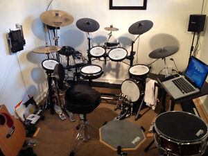 Roland TD-15 V-Drum Full Kit with upgraded elements