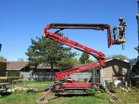 Tree Removal..Our 100' Tracked Lift  A MAJOR Point For Hiring US