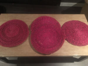 Large wicker place mats