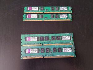 2 paires de mémoire DDR3