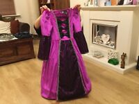 Princess ball gown with wired skirt age 7-8 years.