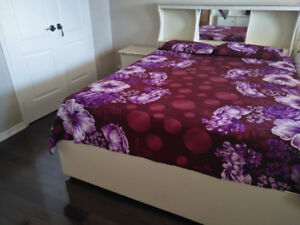 Queen size box bed set