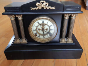 ANTIQUE ANSONIA CLOCK  PORCELAIN FACE,WORKING CONDITION-200$