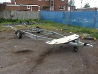 Twin wheel trailer base £150