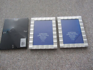 Brand New Silver Plated 5x7 Inch Picture Frame - 3 Available