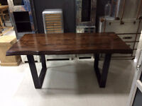 acacia live edge, artemano style, walnut, table en bois, noyer