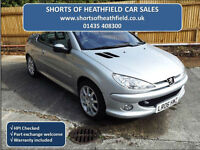 Peugeot 206 1.6 16v Allure - 2 Dr Coupe Cabriolet / Convertible - Leather - 2006